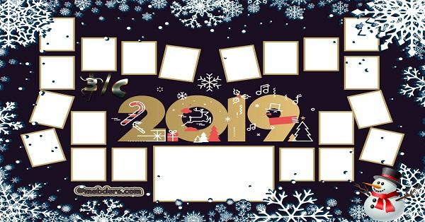 3C Sınıfı için 2019 Yeni Yıl Temalı Fotoğraflı Afiş (20 öğrencilik)