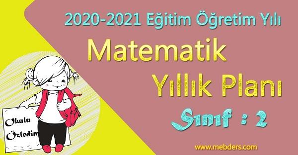 2020 - 2021 Yılı 2.Sınıf Matematik Yıllık Planı (Tekno Artı Yayınevi)