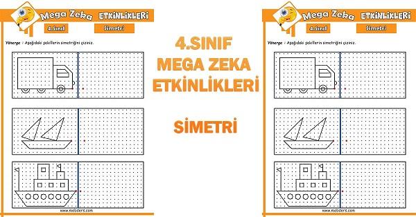 4.Sınıf Mega Zeka Etkinliği - Simetri