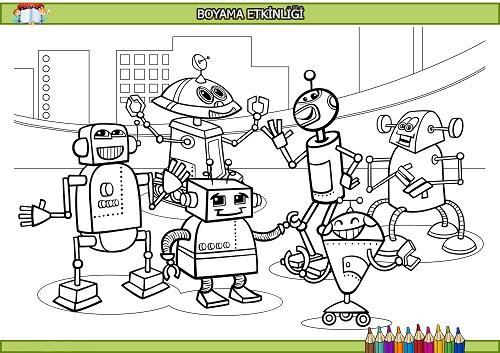 Robotlar Boyama Etkinligi Meb Ders