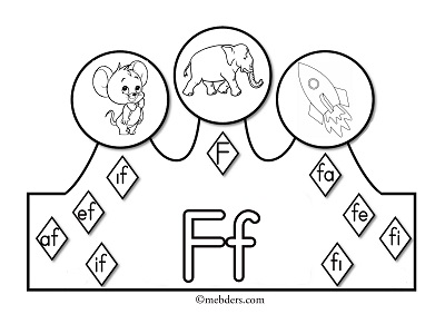 1.Sınıf İlkokuma Harfli Taçlar - F Sesi