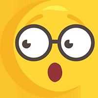 El çizimi şaşkın gözlüklü png emoji resmi
