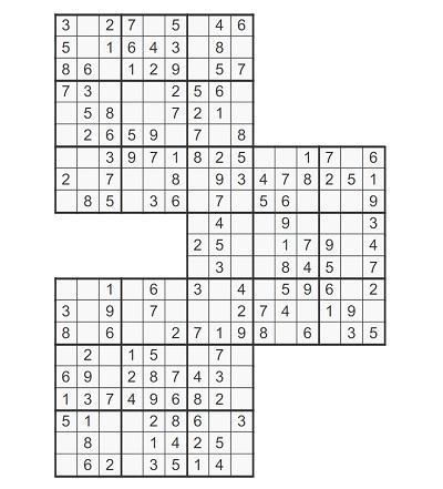 Üçlü Samurai Sudoku 1