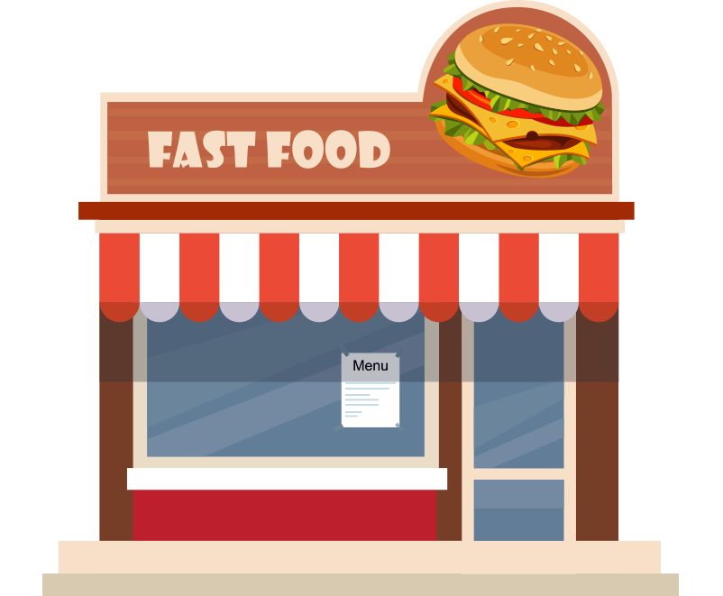 Fast food bina resmi png