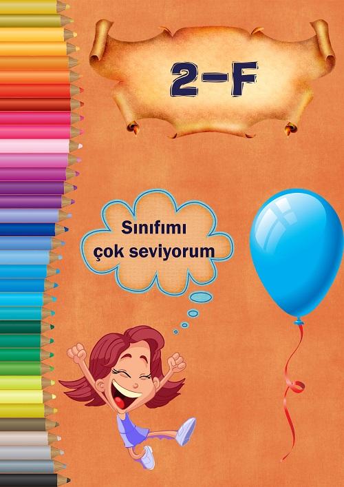 Model 6, 2F şubesi için kalemli ve kız çocuklu kapı süslemesi