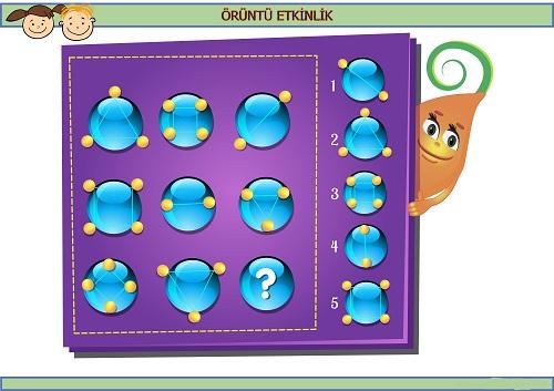 Sırada hangi geometrik çizimler var? Eğlenceli matematik etkinliği