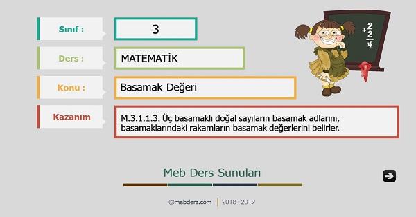 3.Sınıf Matematik Basamak Değeri Sunusu