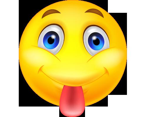 Dil çıkaran png emoji resmi