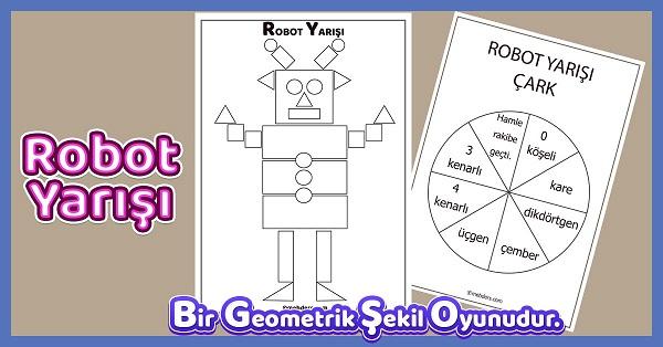 Robot Yarışı - Geometrik Şekiller Oyunu