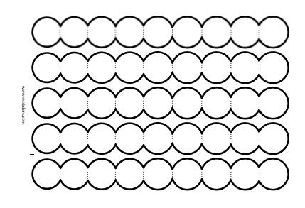 9'lu akordiyon dairelerle not yazma şablonu