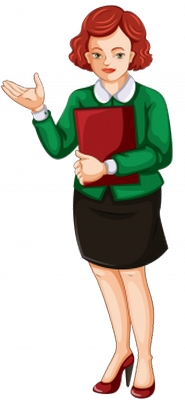 Clipart elinde dosyasıyla bayan öğretmen resmi png