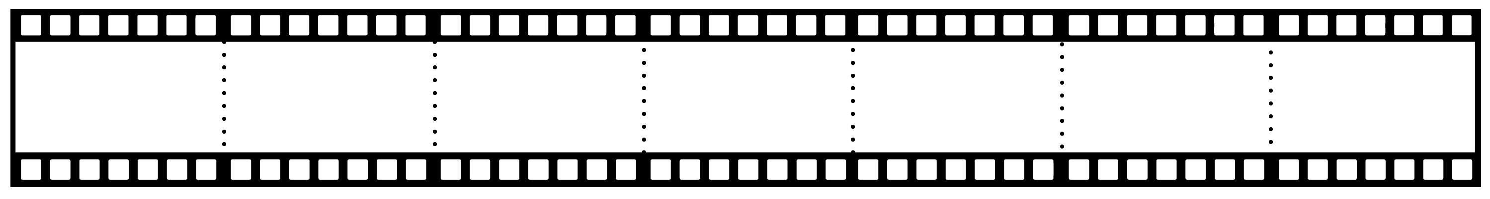 Yedili film şeritli şablon