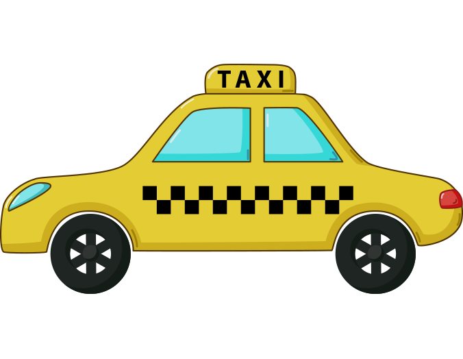 Sarı taksi resmi png