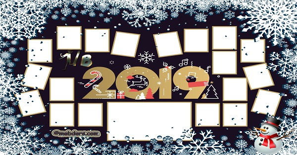1B Sınıfı için 2019 Yeni Yıl Temalı Fotoğraflı Afiş (19 öğrencilik)