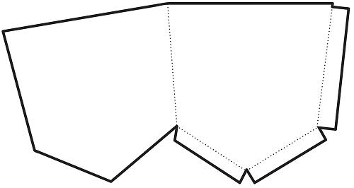 Pantolon cebi şeklinde cep şablon