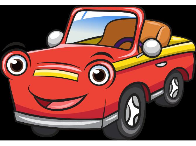 Gülen yüzlü üstü açık otomobil resmi png