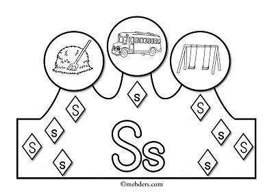 1.Sınıf İlkokuma Harfli Taçlar - S Sesi