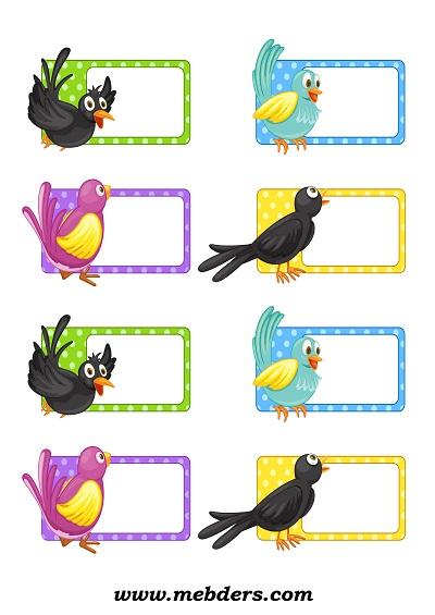 Kuşlu yaka kartı