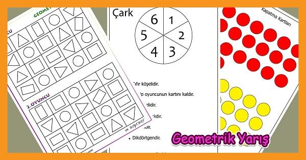 Geometrik Yarış - Geometrik Şekiller Oyunu
