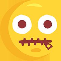El çizimi ağzı fermuarlı png emoji resmi
