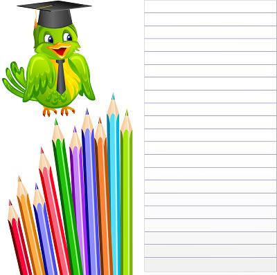Kalemli, baykuşlu not yazma şablonu