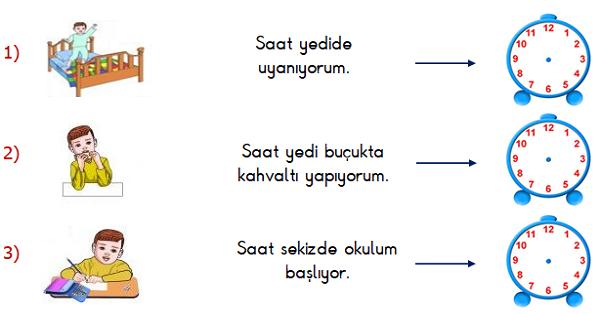 1.Sınıf Matematik Zamanı Ölçme (Saatler) Etkinliği