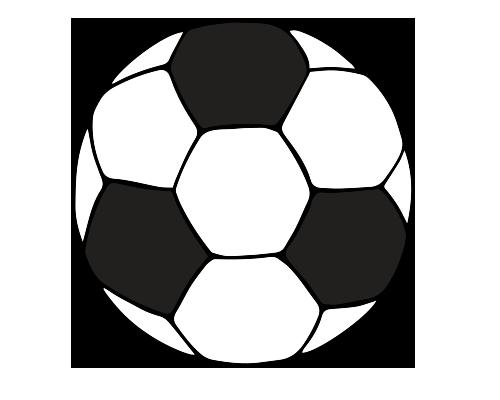 Siyah beyaz futbol topu resmi png