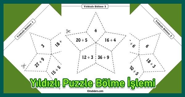 Yıldızlı Puzzle Bölme İşlemi