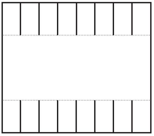 On altı kapaklı not şablonu