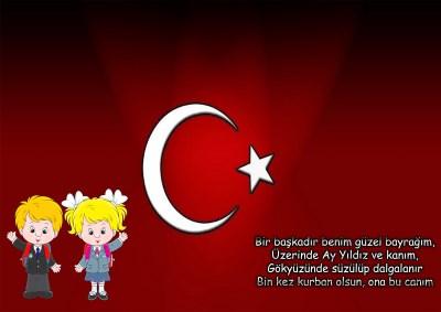 Model 28, Türk bayraklı ve çocuklu kapı süslemesi