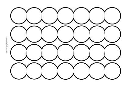 7'li akordiyon dairelerle not yazma şablonu
