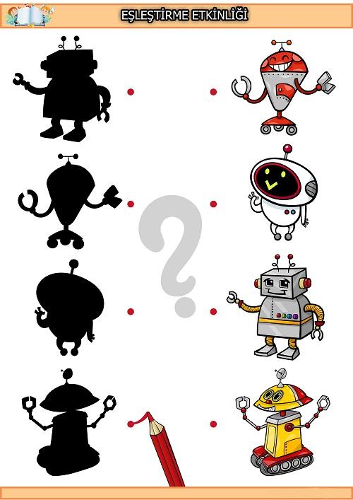 Robot gölge eşleştirme etkinliği