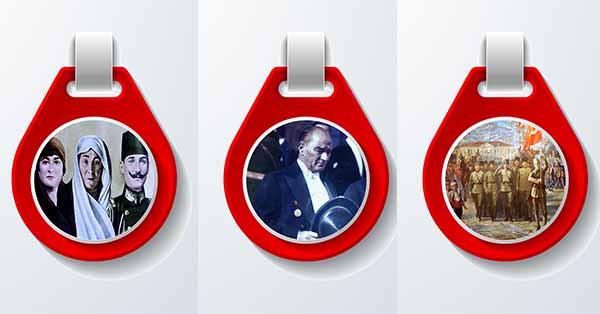 Pano için 10 adet askılı Atatürk Resimleri