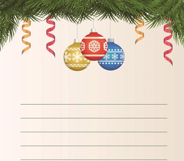 Yeni yıl temalı yazı şablonu