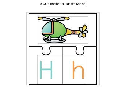 5.Grup Harfler Resimli Yapboz Ses Tanıtım Kartları