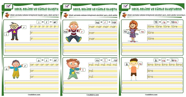 1.Sınıf İlk Okuma R Sesi Birleştirme Etkinliği
