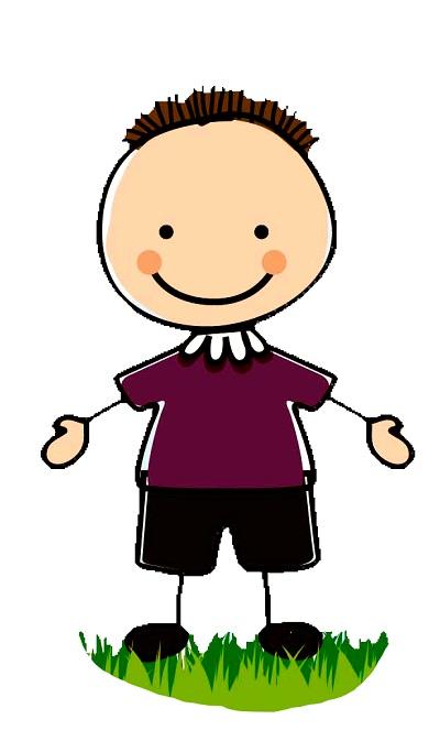 Clipart kısa saçlı kollarını açmış erkek çocuk