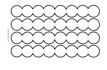 8'li akordiyon dairelerle not yazma şablonu