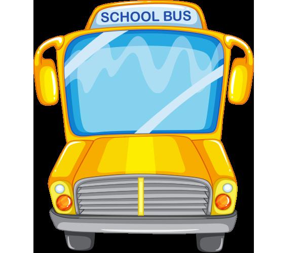 Önden çekilmiş okul otobüsü resmi png