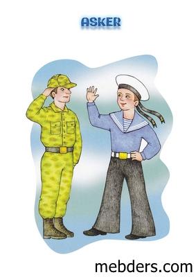 Clipart asker meslek kartı