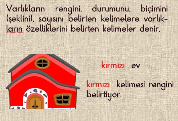 2. Sınıf Türkçe Varlıkların Özelliklerini Belirten Kelimeler  Powerpoint Sunumu