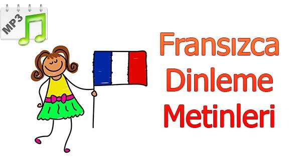 2019-2020 Yılı 3.Sınıf Fransızca Dinleme Metinleri - Tüm Ses Dosyaları mp3 (MEB)