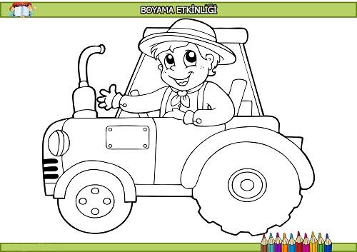 Traktordeki Cocuk Boyama Etkinligi Meb Ders