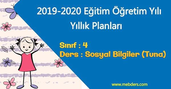 2019 - 2020 Yılı 4.Sınıf Sosyal Bilgiler Yıllık Planı (Tuna Yayıncılık)