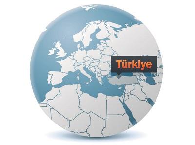 Dünya üzerinde Türkiye Haritası