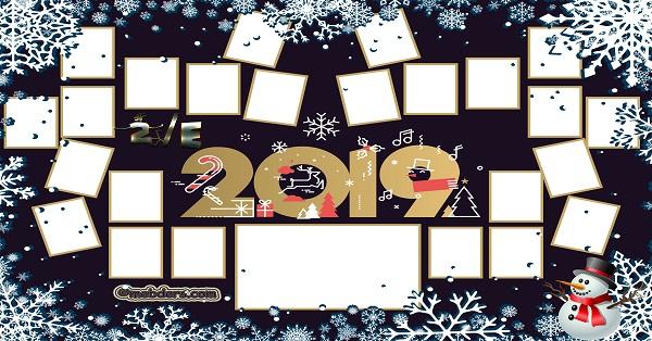2E Sınıfı için 2019 Yeni Yıl Temalı Fotoğraflı Afiş (24 öğrencilik)