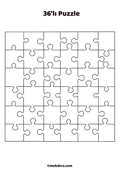 36'lı puzzle şablon 3