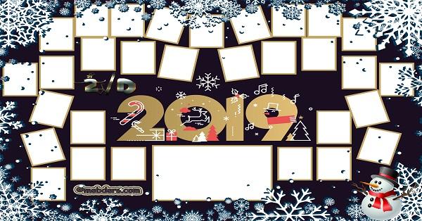 2D Sınıfı için 2019 Yeni Yıl Temalı Fotoğraflı Afiş (30 öğrencilik)