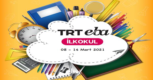 8 Mart - 14 Mart Arası EBA TV İlkokul Yayın Akışı, Dersler, Konular