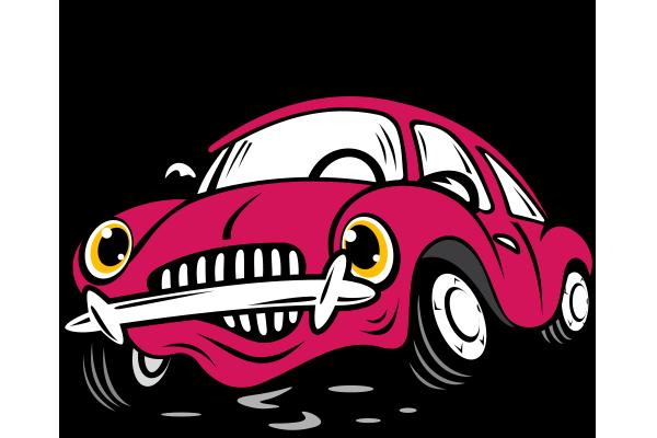 Kızgın yağı kaçmış araba resmi png
